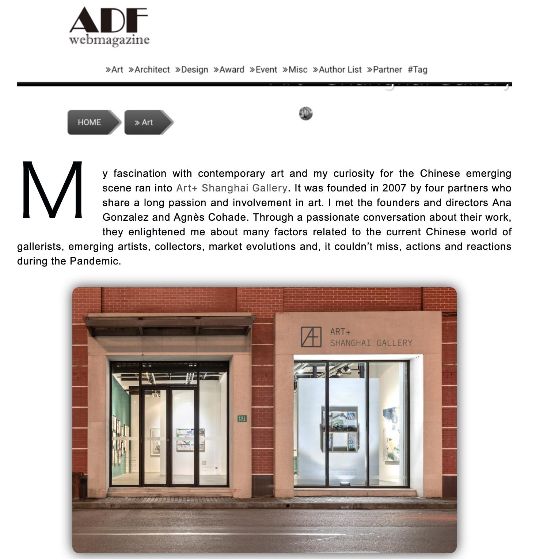 ENZA MIGLIORE Featuring Art+ Shanghai Gallery in ADF Magazine